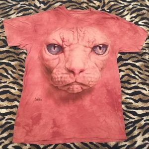 The Mountain Pink Cat Shirt Size Large